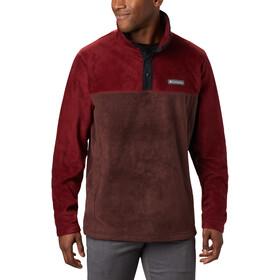 Columbia Steens Mountain Suéter Botones Clip Hombre, marrón/rojo